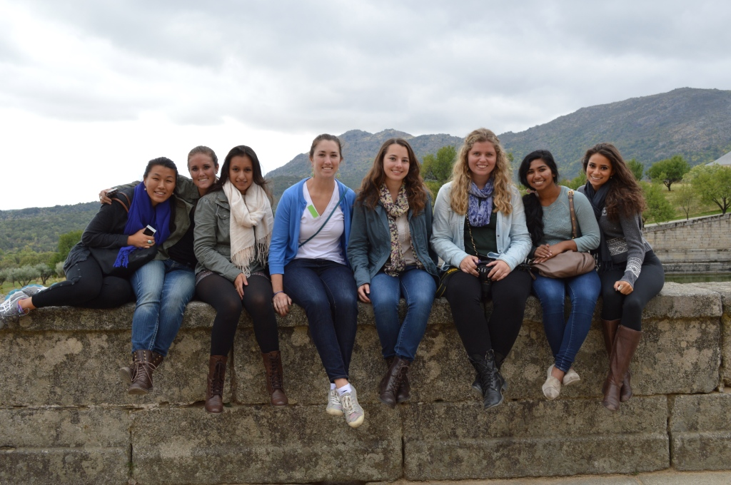 En los jardines del palacio, enEl Escorial.