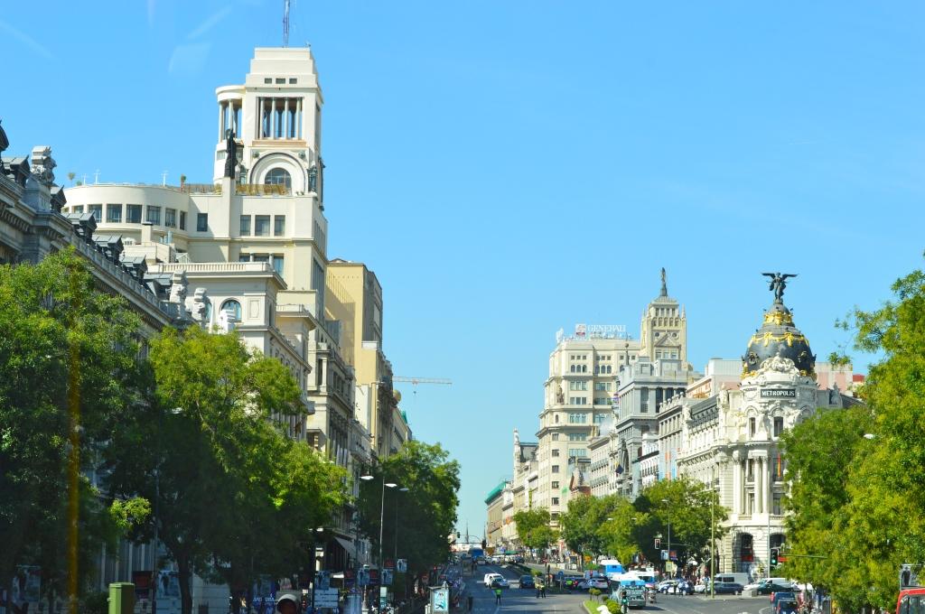 Vista de la calle de Alcalá.