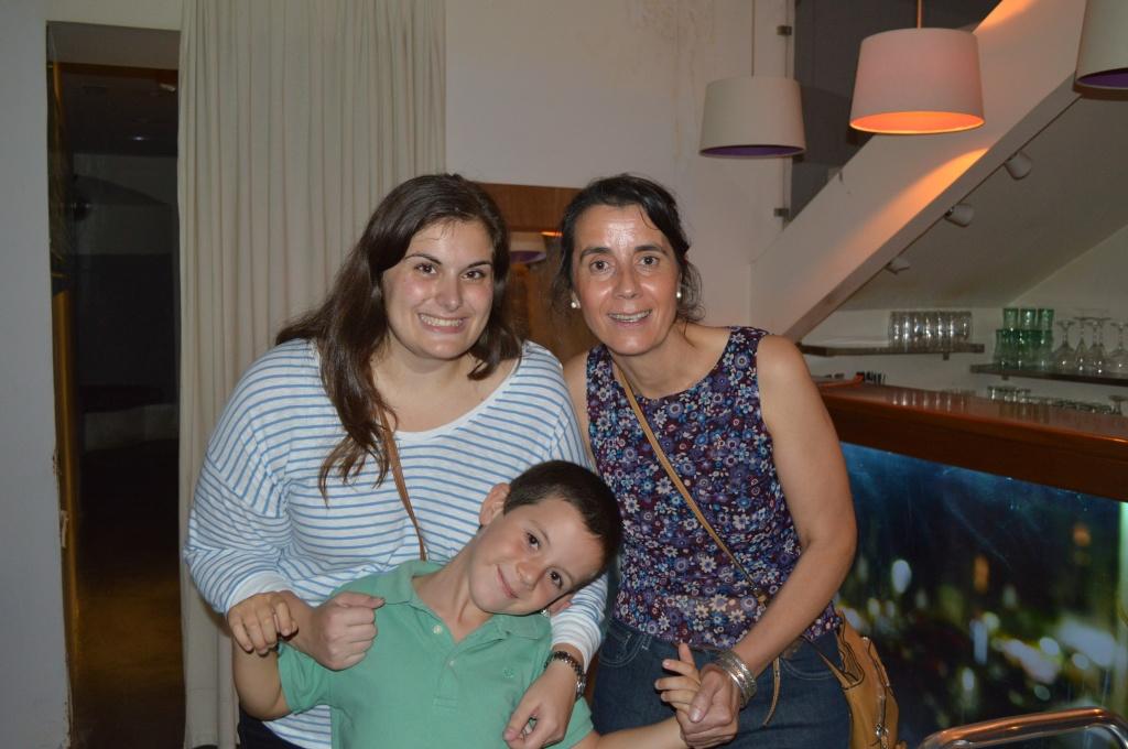 Ali con Isabel y Pablo.