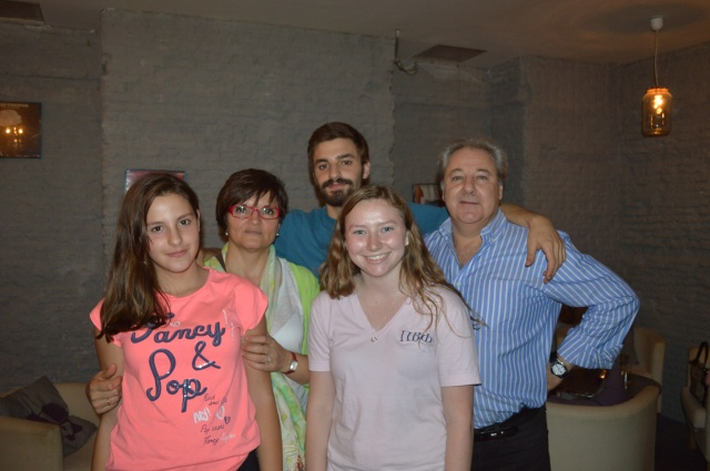 Cecilia y su familia.