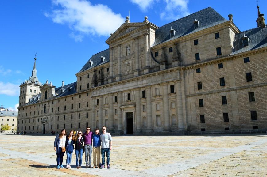 Fachada principal del Palacio de El Escorial.