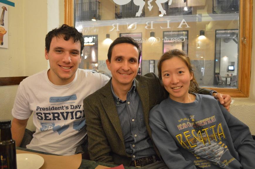 Adrian, Manuel y Katie.